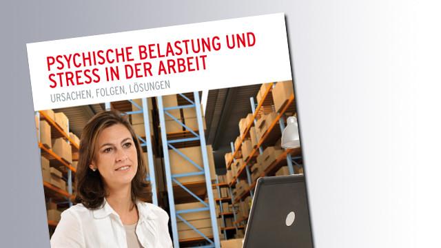 Titelseite Psychische Belastung und Stress in der Arbeit © AK Salzburg