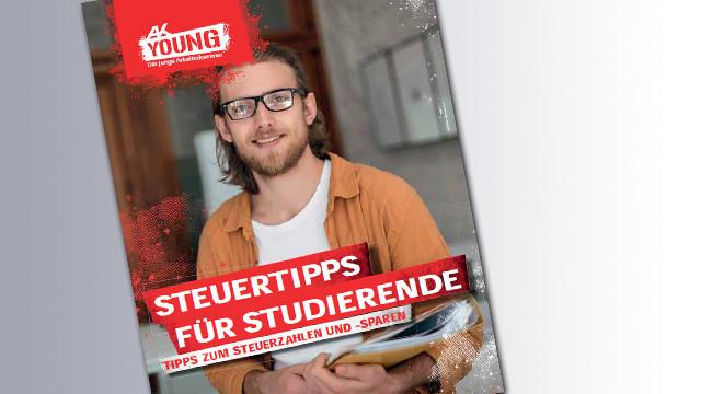 Titelseite Broschüre Steuertipps für Studierende © Anton, stock.adobe.com