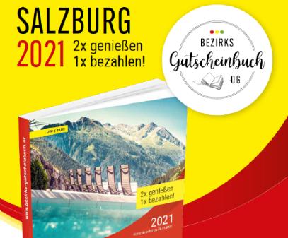 Gutscheinbuch Salzburg 2021 © Bezirks-Gutscheinbuch OG, Bezirks-Gutscheinbuch OG