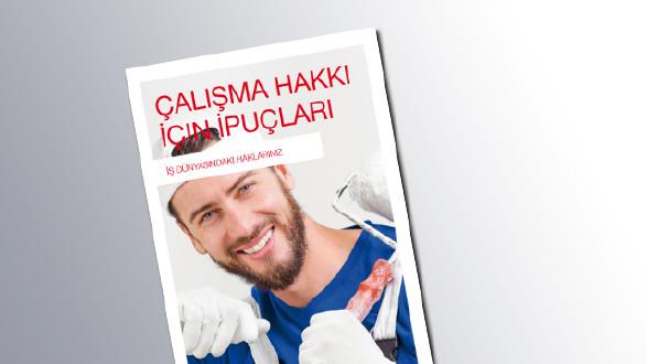 Titelseite Tipps für das Arbeitsrecht Türkisch © AK Salzburg
