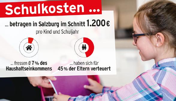 Grafik zur Schulkostenerhebung 20/21 © AK Salzburg, AK Salzburg