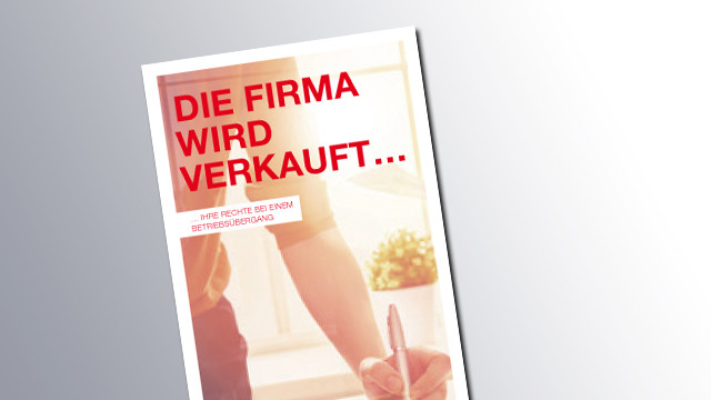 Titelseite Betriebsübergang © AK Wien