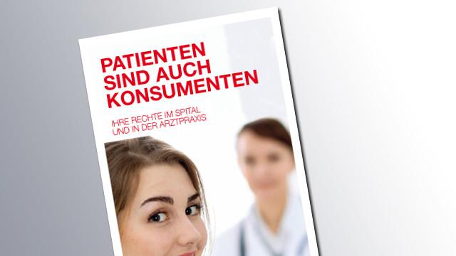 Titelseite Patienten sind auch Konsumenten © AK Salzburg