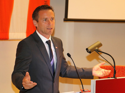 Präsident Peter Eder bei der KVV © AK, AK