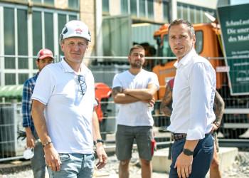 Gemeinsam für bessere Arbeitsbedingungen am Bau. © AK/wildbild, AK/wildbild