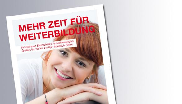 Titelseite Mehr Zeit für Weiterbildung © AK Salzburg